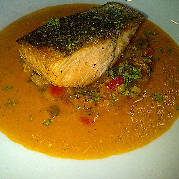Salmon With Tomato Sauce @ Cowboy Star Restaurant & Butcher Shop