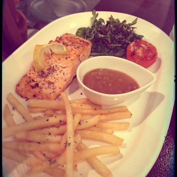 Grilled Salmon With Mushroom Sauce  @ Opus Cafe - Tebet Indraya Square