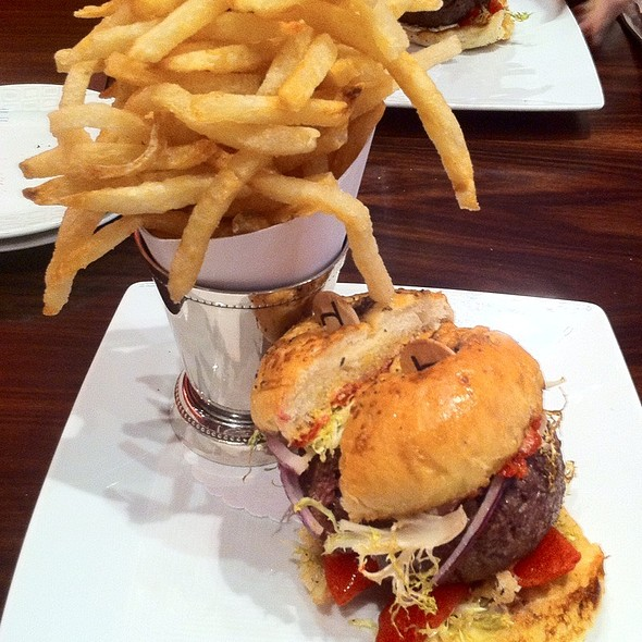 Original db Burger and french fries @ DB Bistro moderne