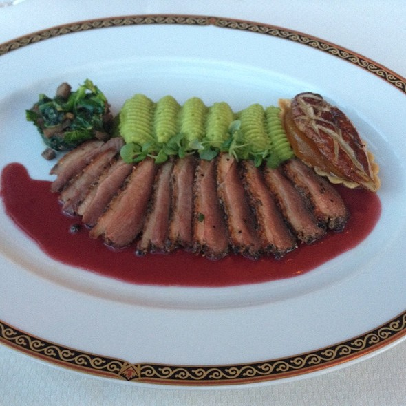 Seared Duck Breast with Foie Gras - Alizé at the Top of the Palms Casino Resort, Las Vegas, NV
