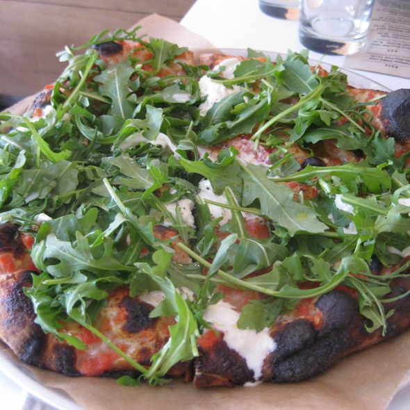 Arugula and Stracciatella Pizza @ Co.
