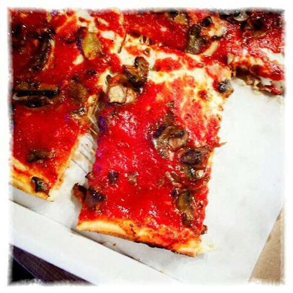 Mushroom Pizza @ Santucci's Original Square Pizza
