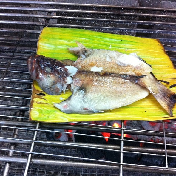 Charcoal Grilled Fish In Banana Leaf
