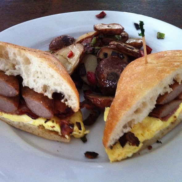 Bacon Egg And Cheese, Sausage Egg And Cheese - The Paris Cafe, New York, NY