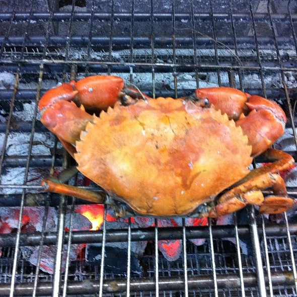Charcoal Grilled Crabs