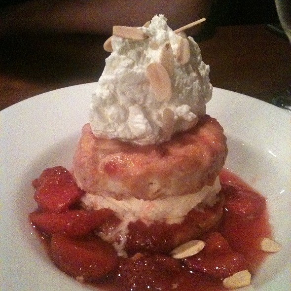 Strawberry Shortcake on a Buttermilk Biscuit @ Joe's American Bar & Grille