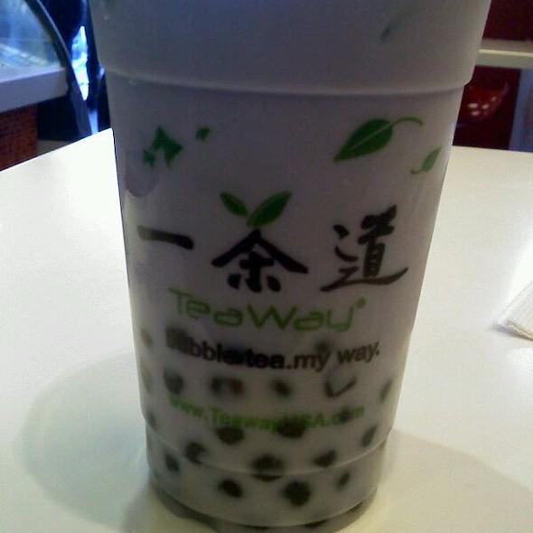 Taro Milk Tea W/ Boba @ Teaway