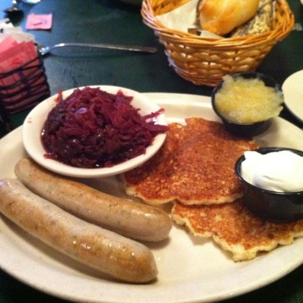 Weisswurst Platter @ Max's Allegheny Tavern