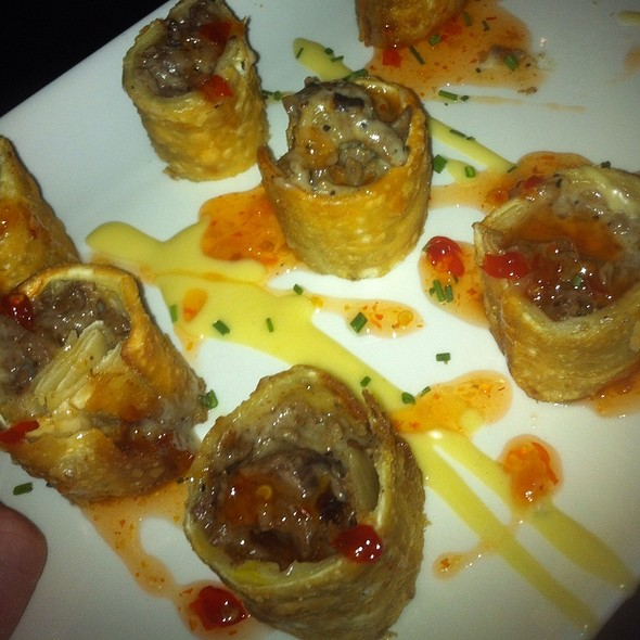 Steak And Cheese Egg Roll @ Del Frisco's Grille