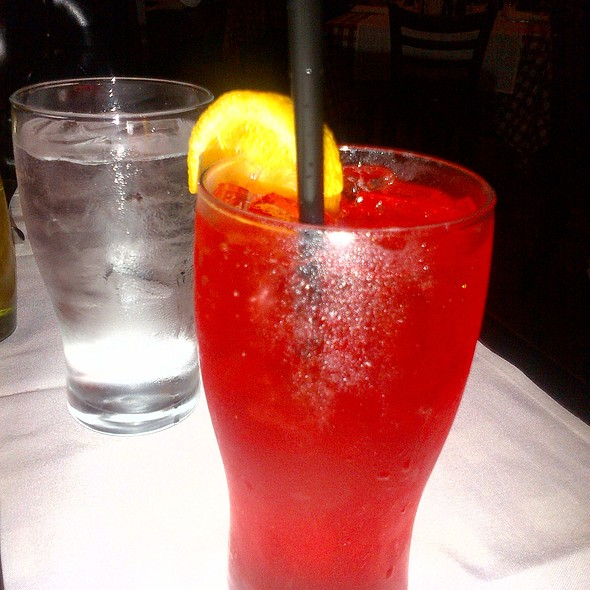 Blood Orange Italian Soda - Maggiano's - Cherry Hill