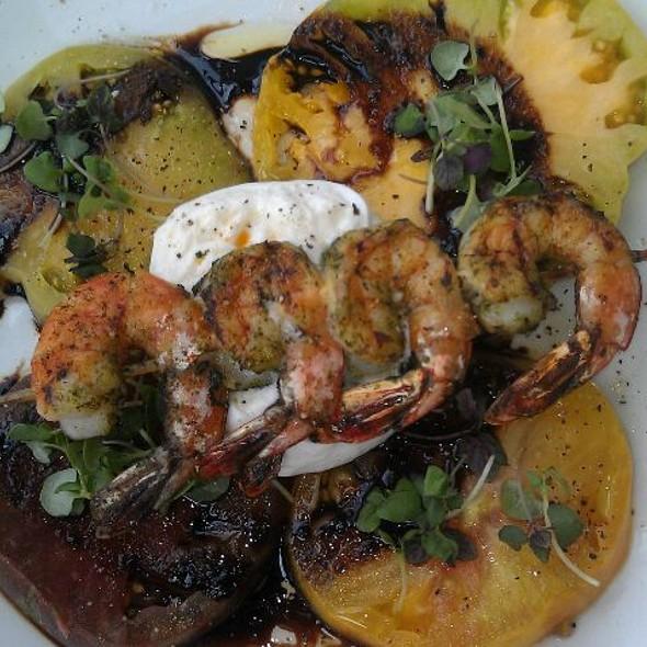 Heirloom Tomato & Pesto Grilled Shrimp Salad  - Pacific Coast Grill - Cardiff, Cardiff-By-The-Sea, CA