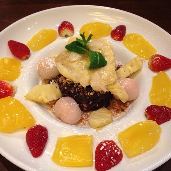 Black Sticky Rice W/ Seasonal Fruit @ Holybasil