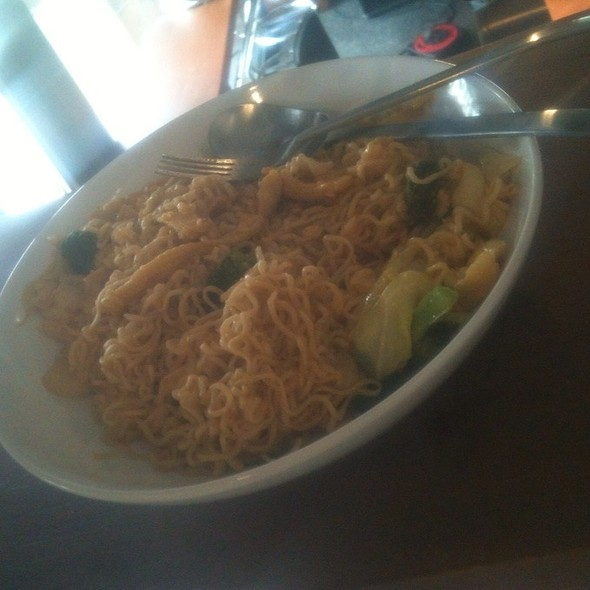 Chicken wok with noodles