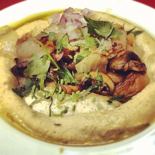 Mushrooms And Hummus @ Zula Hummus Café