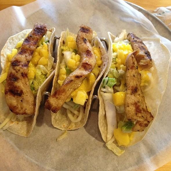Mahi Mahi tacos!!! My first time here & it looks yummy @ La'au's Taco Shop