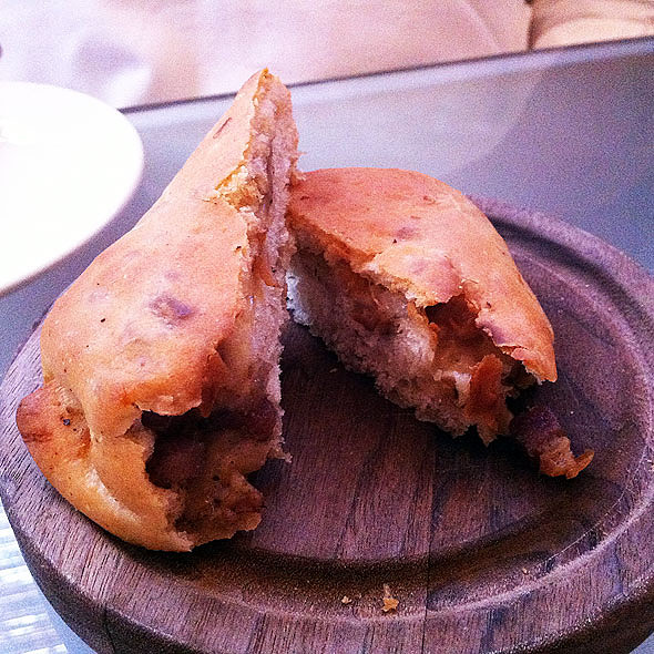 Provolone & Pancetta Stuffed Bread - Emeril's Delmonico, New Orleans, LA
