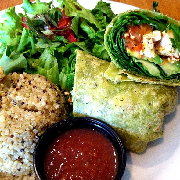 Green Transcendence Wrap @ naked cafe - encinitas