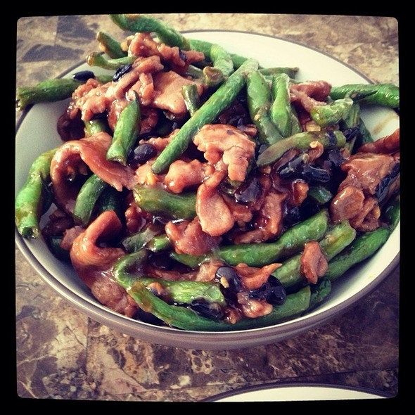 Beef With Stringbeans @ Green Elephant Gourmet