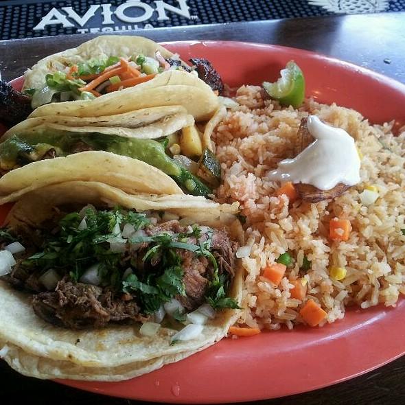 1 Vegetarian, 1 Pork And 1 Beef Taco @ Bel Air Cantina