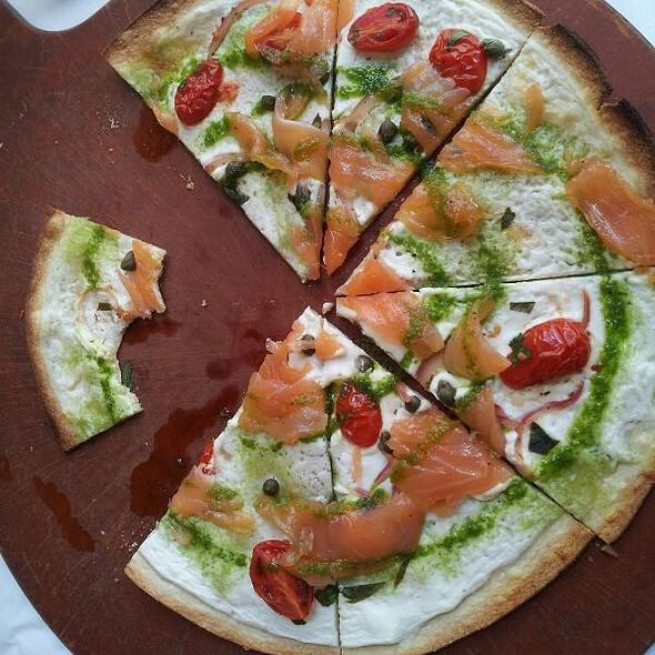 Salmon Flatbread Pizza @ Coquette Cafe