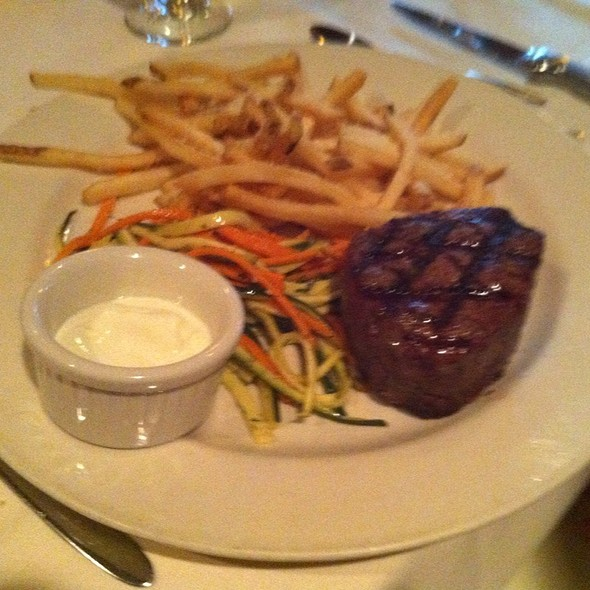 Filet And Parmesean Fries With Truffle Cre - Otto's Restaurant and Bar, Madison, WI