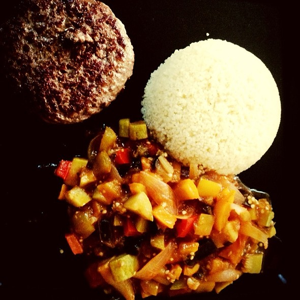 Couscous With Ratatouille And Wagyu Burger.  @ Giorgio's Home