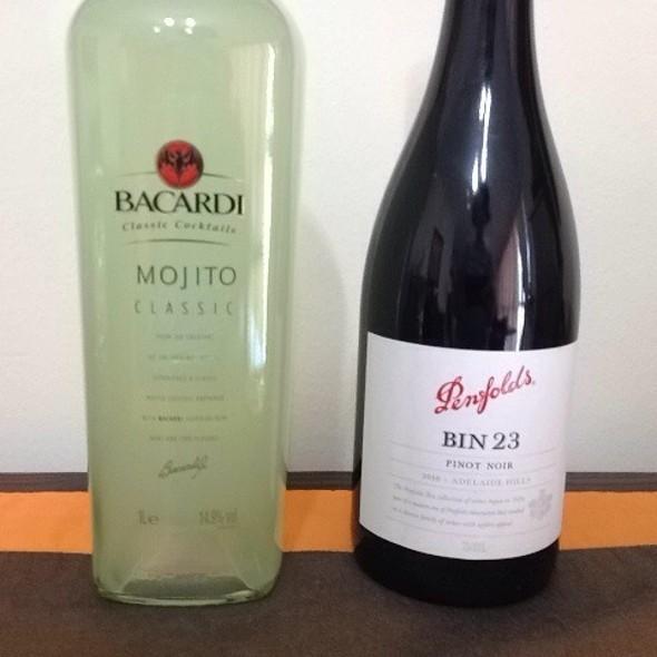 Bacardi Mojito Classic And Penfolds Bin 23 Pinot Noir @ Duty Free Singapore