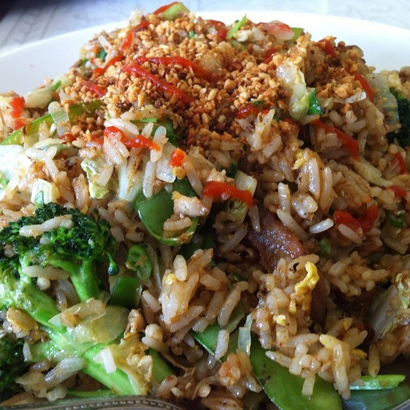 Chicken Satay Fried Rice With Mixed Vegetables And Peanuts  @ Fuschian Vietnamese Restaurant Inc
