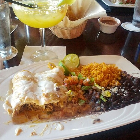 Ahi Enchiladas With Black Beans And Rice - Luibueno's Mexican & Latin Cuisine, Haleiwa, HI