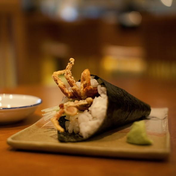 Soft Shell Crab Hand Roll @ @! Restaurant