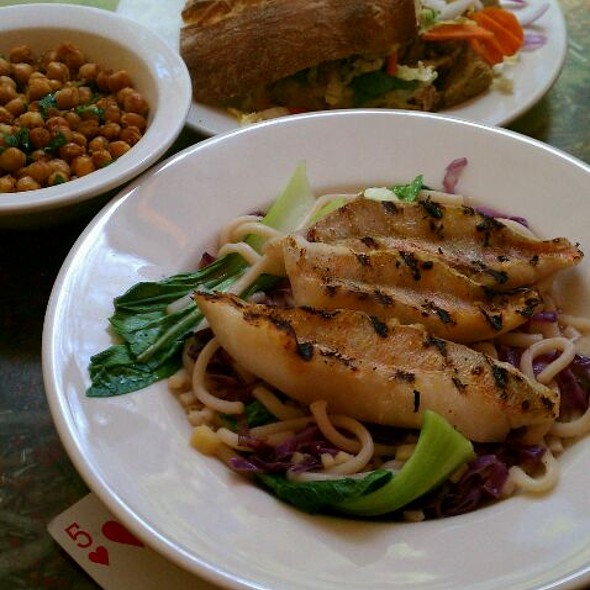 Grilled Arcadian Red Fish with Vegan Banh Mi @ Food At AS220