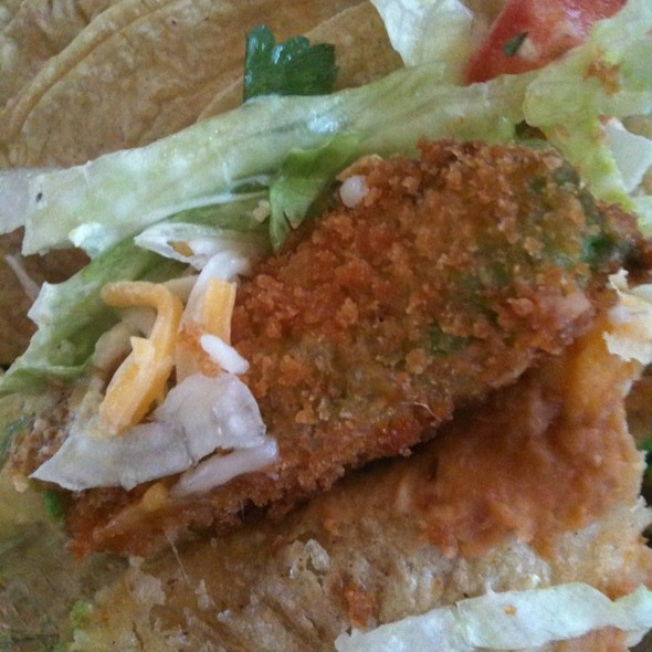 Fried Avacado Taco @ Torchy's Tacos
