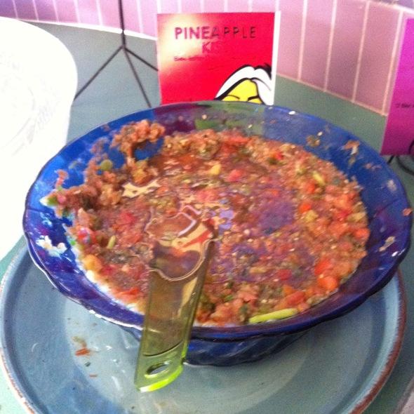 Pineapple Kiss Salsa @ Best Fish Taco in Ensenada