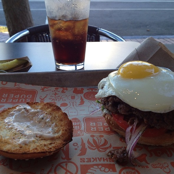 Burger With Fried Egg @ Super Duper Burger