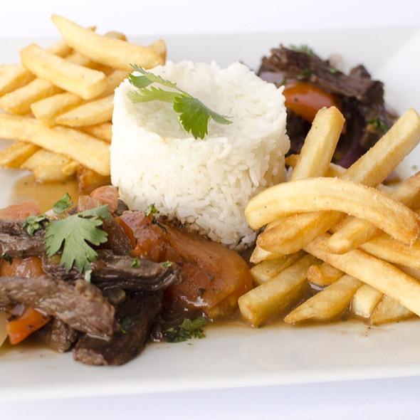 lomo saltado @ Fusion And Flavors Peruvian Restaurant