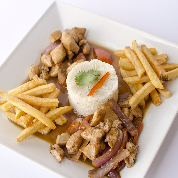 Chicken Saltado @ Fusion And Flavors Peruvian Restaurant