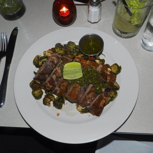 Pork Ribs Fried Brussel Sprouts Pickled Chilis Mint @ Super Linda