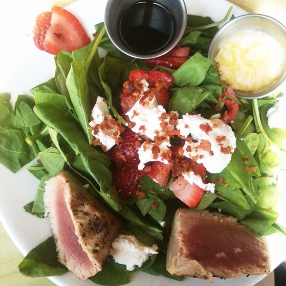 Spinach Salad With Seared Ahi Tuna - The Mooring Restaurant, Newport, RI