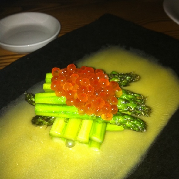 Asparagus with Hollandaise Sauce and Salmon Roe @ Nobu Tribeca