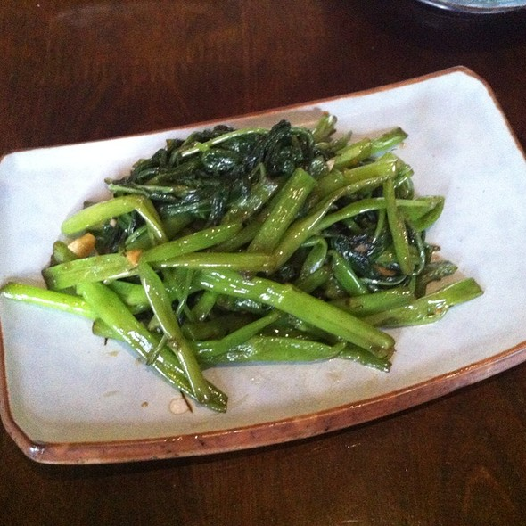 Stir Fried Greens With Sesame And Garlic Sauce @ Akari