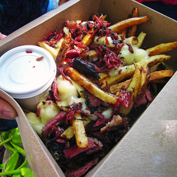 Poutine with smoked meat @ Mile End Delicatessen