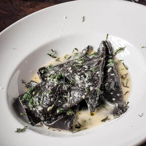 Burrata and Oven Dried Tomato Ravioli @ Asellina Ristorante