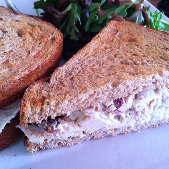 Cranberry Chicken Salad Sandwich @ fabiane's cafe & pastry