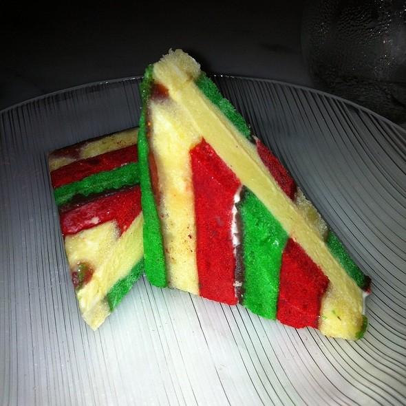 Rainbow Cookie Ice Cream Sandwich