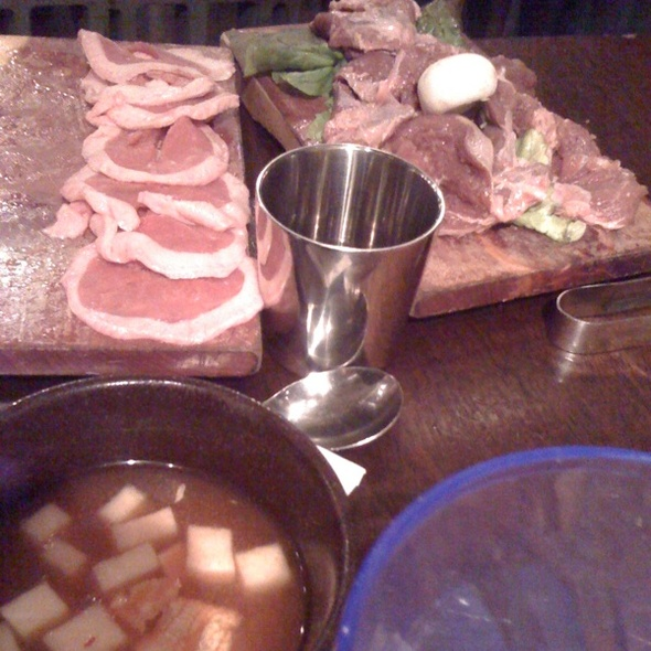 Duck & Skirt Meat (pork) @ Honey Pig