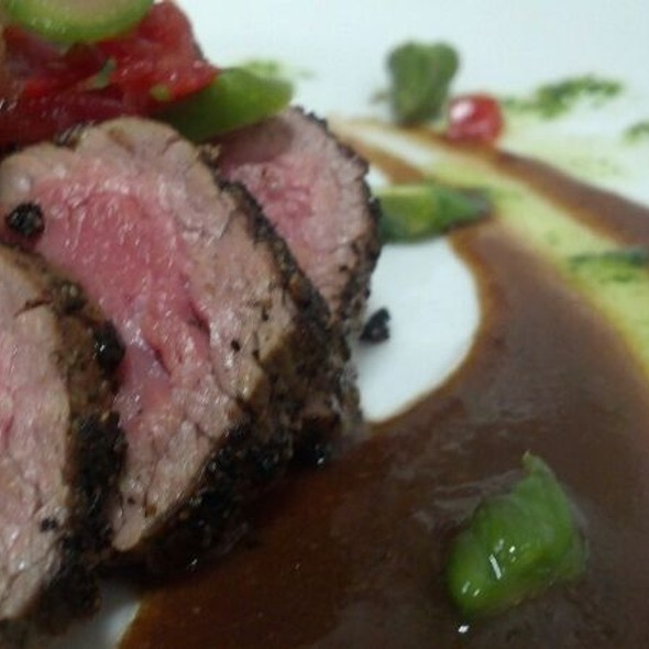 Pepper Seared Filet Tender With Chervil And White Truffel @ 63 Bistro
