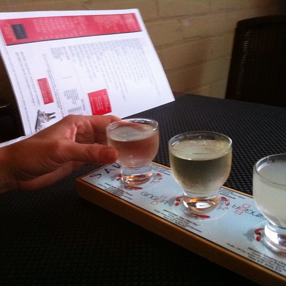 Sake Flight - Red Ginger of Traverse City, Traverse City, MI