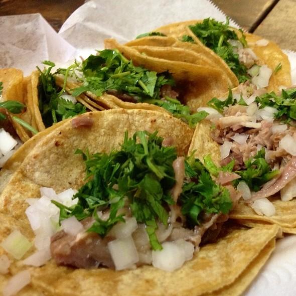 carnitas tacos @ La Mexicana Market