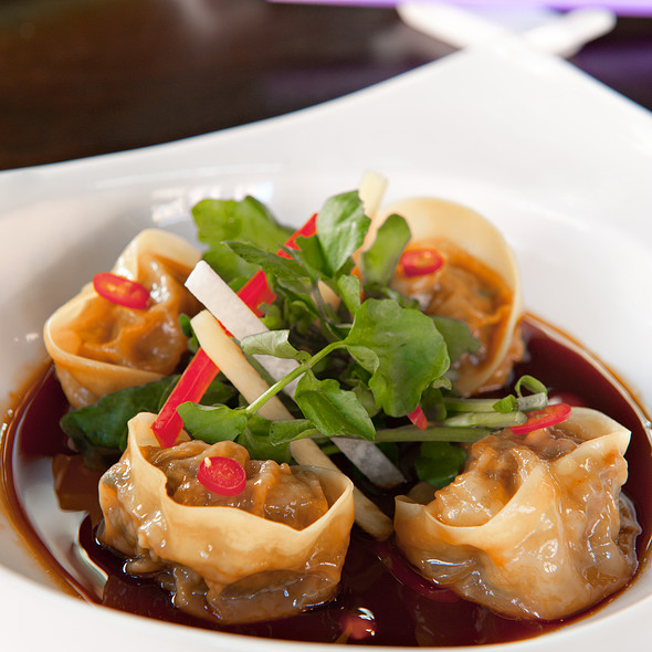 Spicy Beef and Scallion Dumplings @ Toy NYC