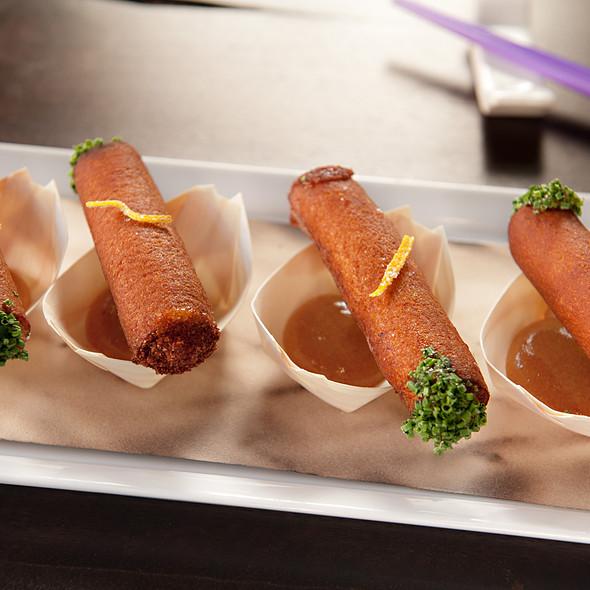 Shrimp Toast Cigars  @ Toy NYC